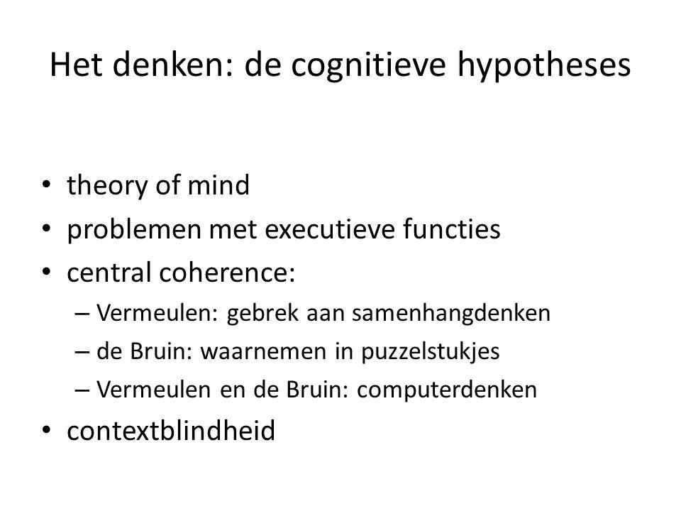 Het denken: de cognitieve hypotheses