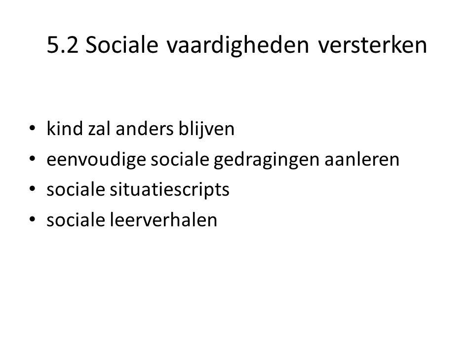 5.2 Sociale vaardigheden versterken