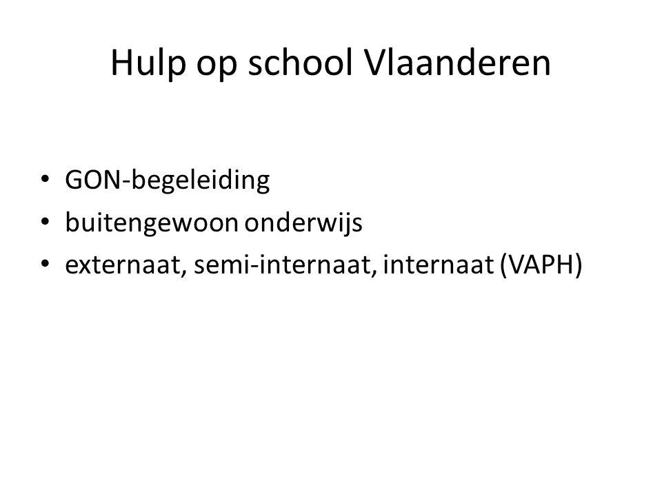 Hulp op school Vlaanderen