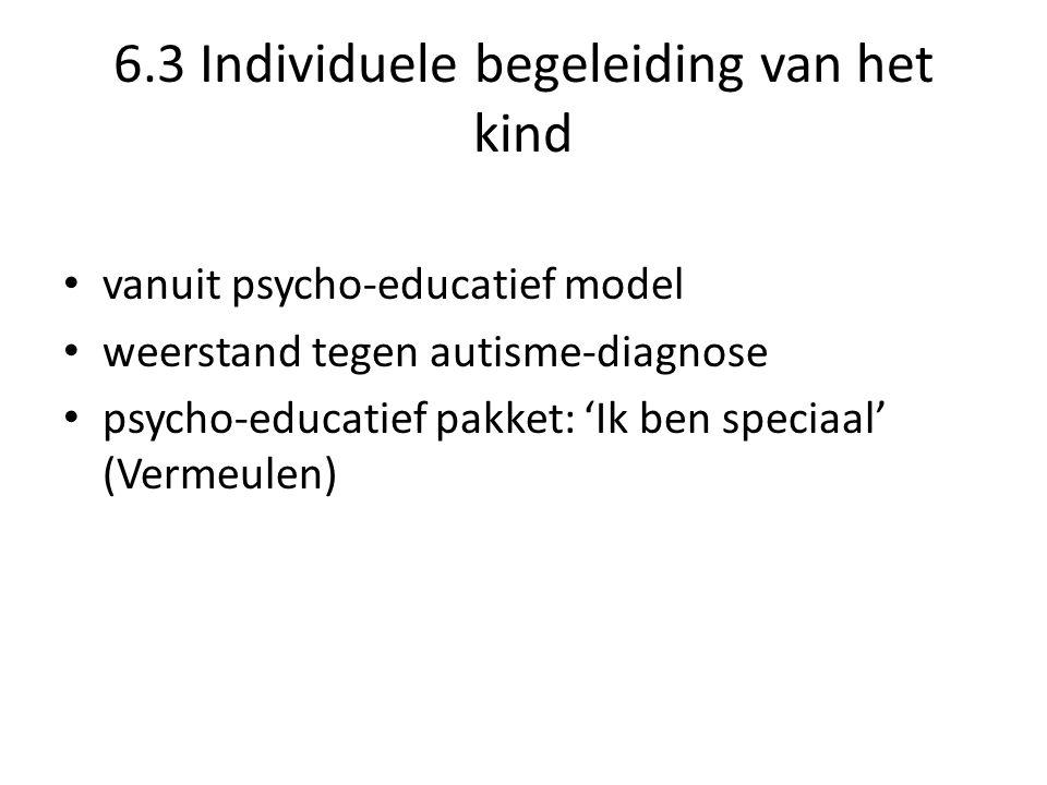6.3 Individuele begeleiding van het kind