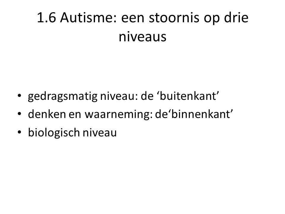 1.6 Autisme: een stoornis op drie niveaus