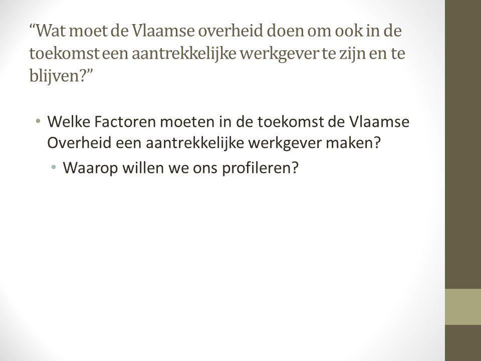 Wat moet de Vlaamse overheid doen om ook in de toekomst een aantrekkelijke werkgever te zijn en te blijven