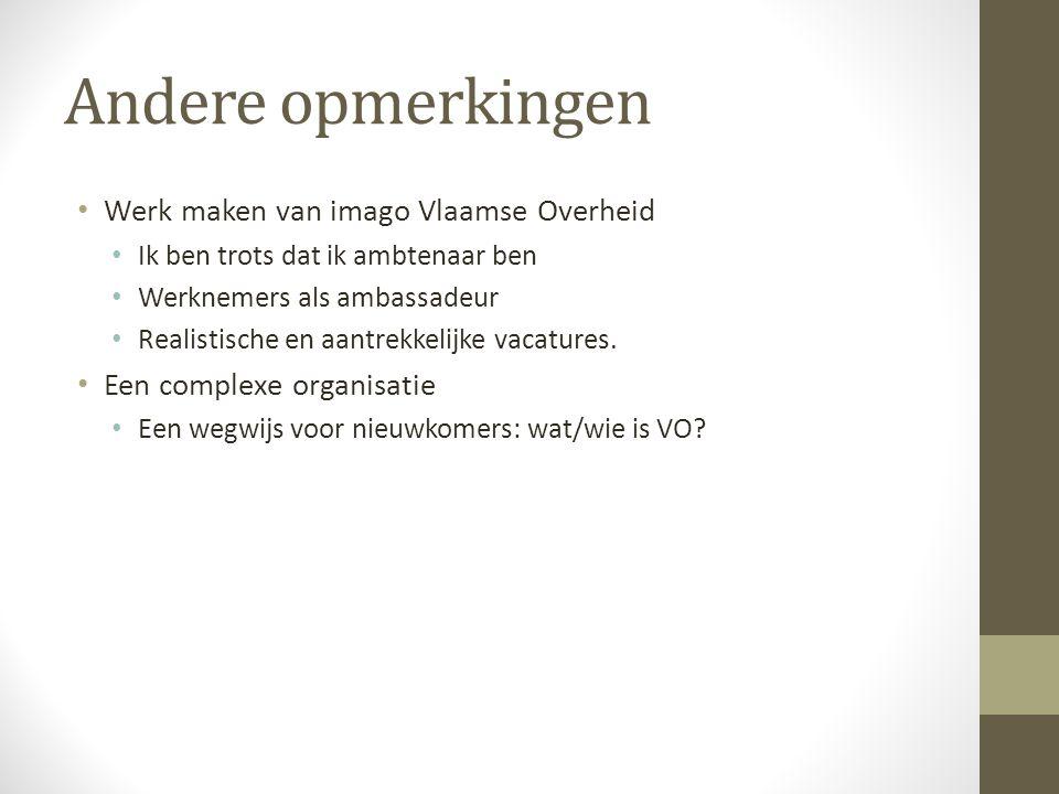 Andere opmerkingen Werk maken van imago Vlaamse Overheid