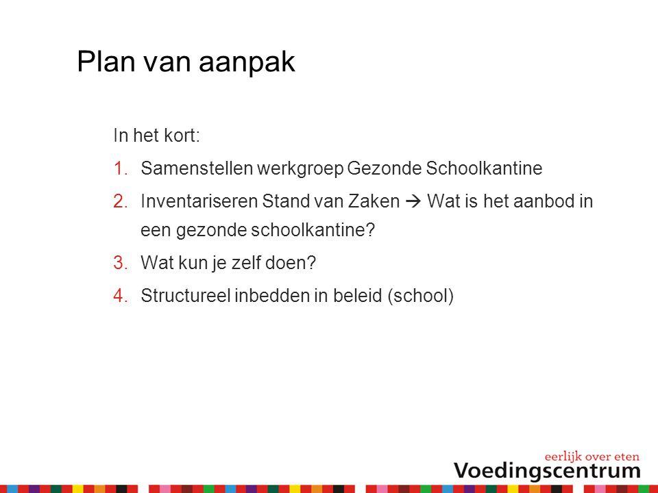 Plan van aanpak In het kort: