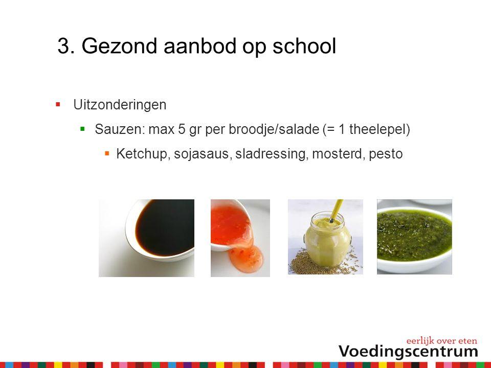3. Gezond aanbod op school