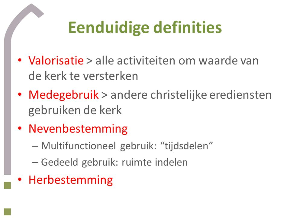 Eenduidige definities
