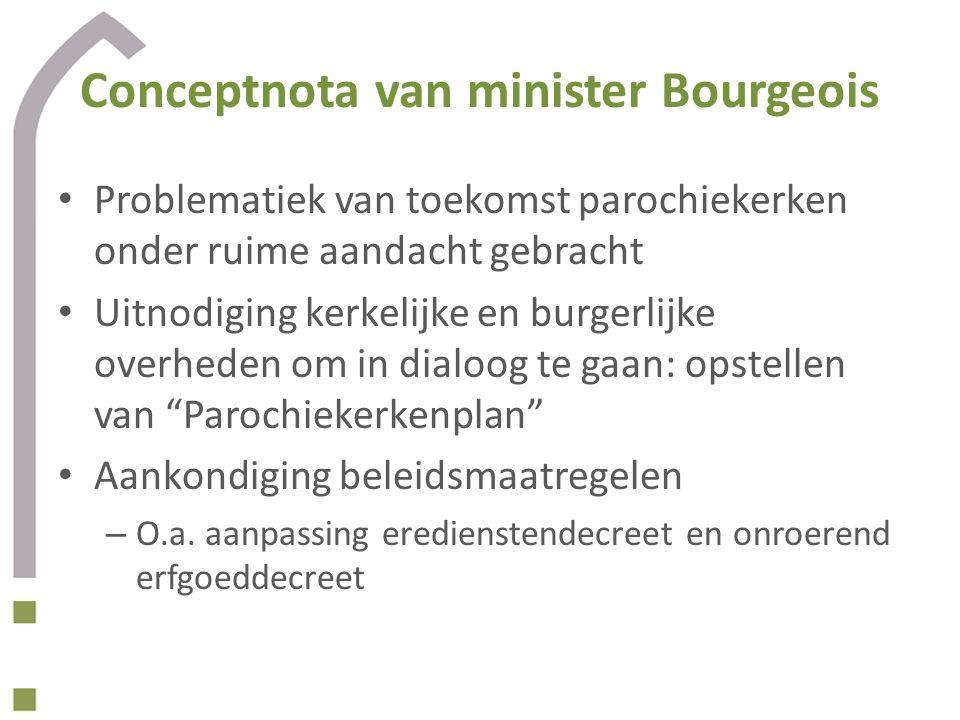 Conceptnota van minister Bourgeois