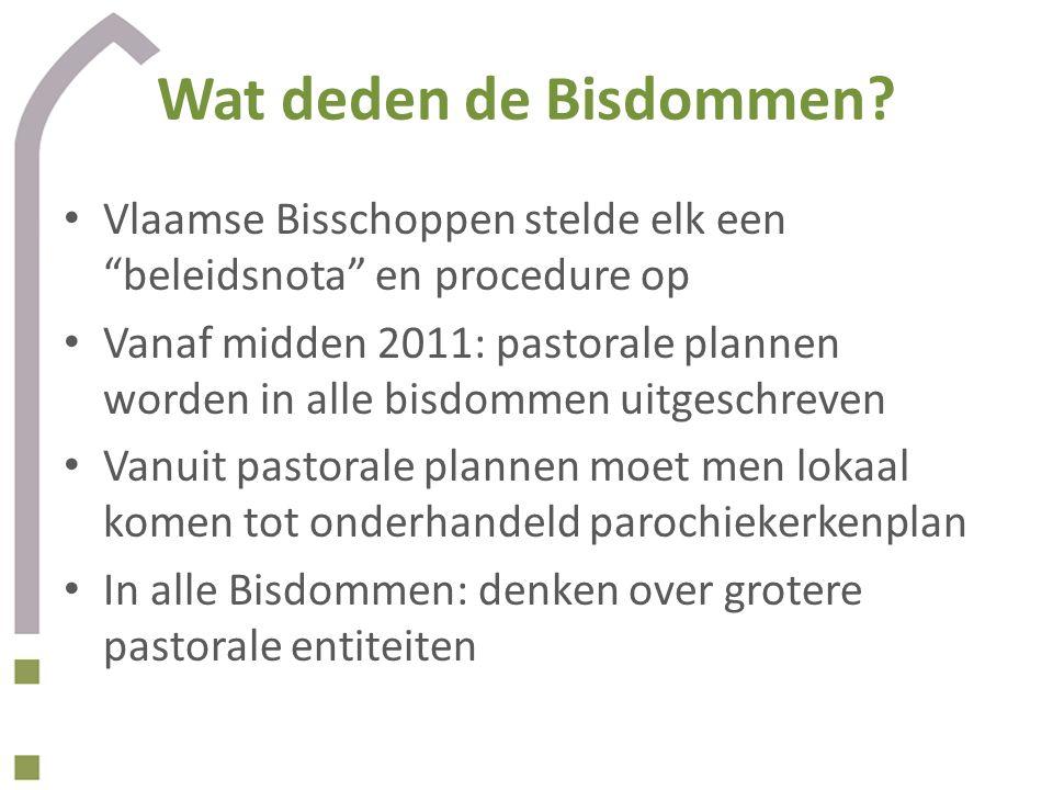 Wat deden de Bisdommen Vlaamse Bisschoppen stelde elk een beleidsnota en procedure op.