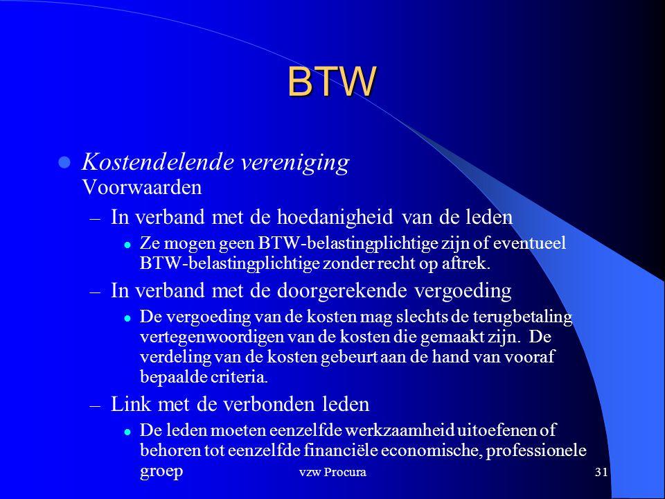 BTW Kostendelende vereniging Voorwaarden