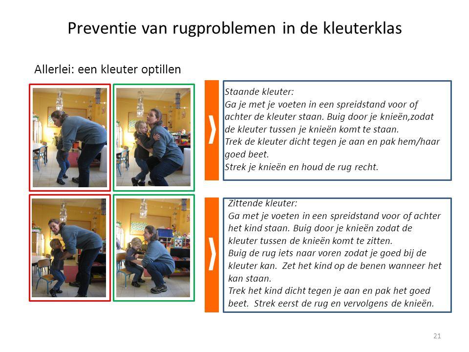 Preventie van rugproblemen in de kleuterklas