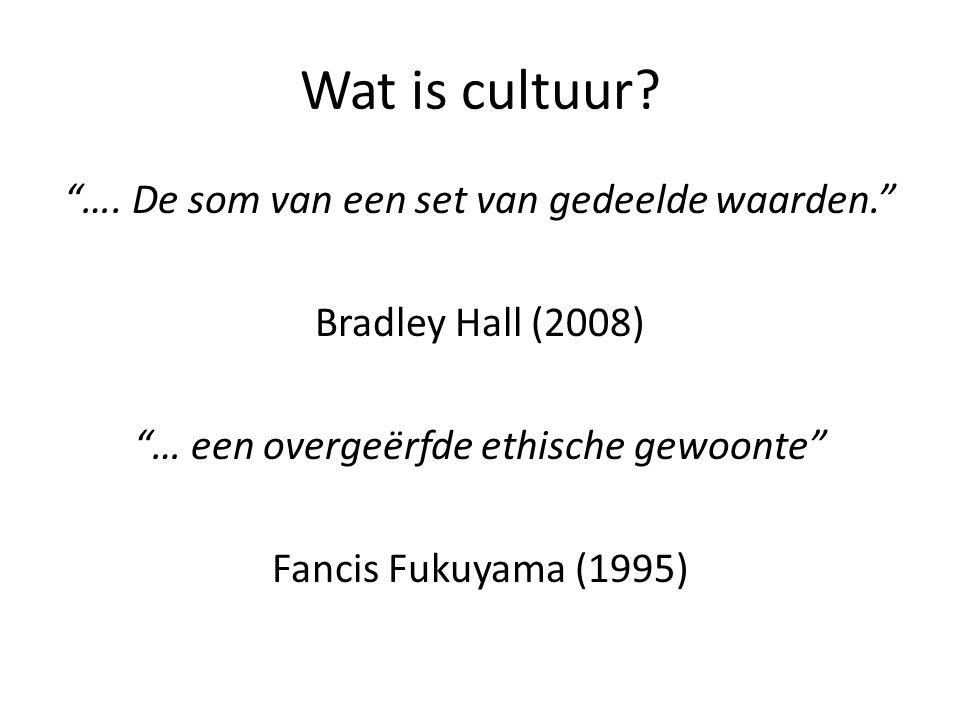 Wat is cultuur. ….