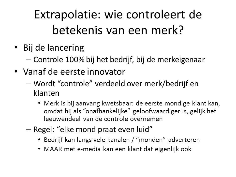 Extrapolatie: wie controleert de betekenis van een merk