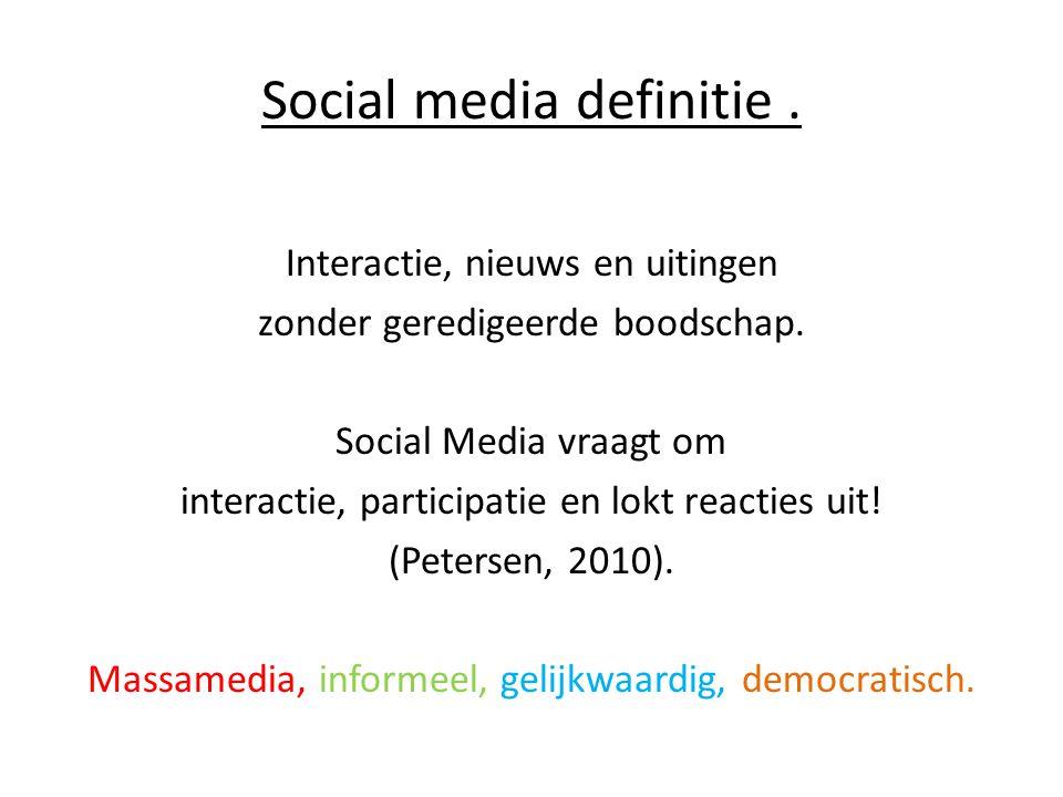 Social media definitie .