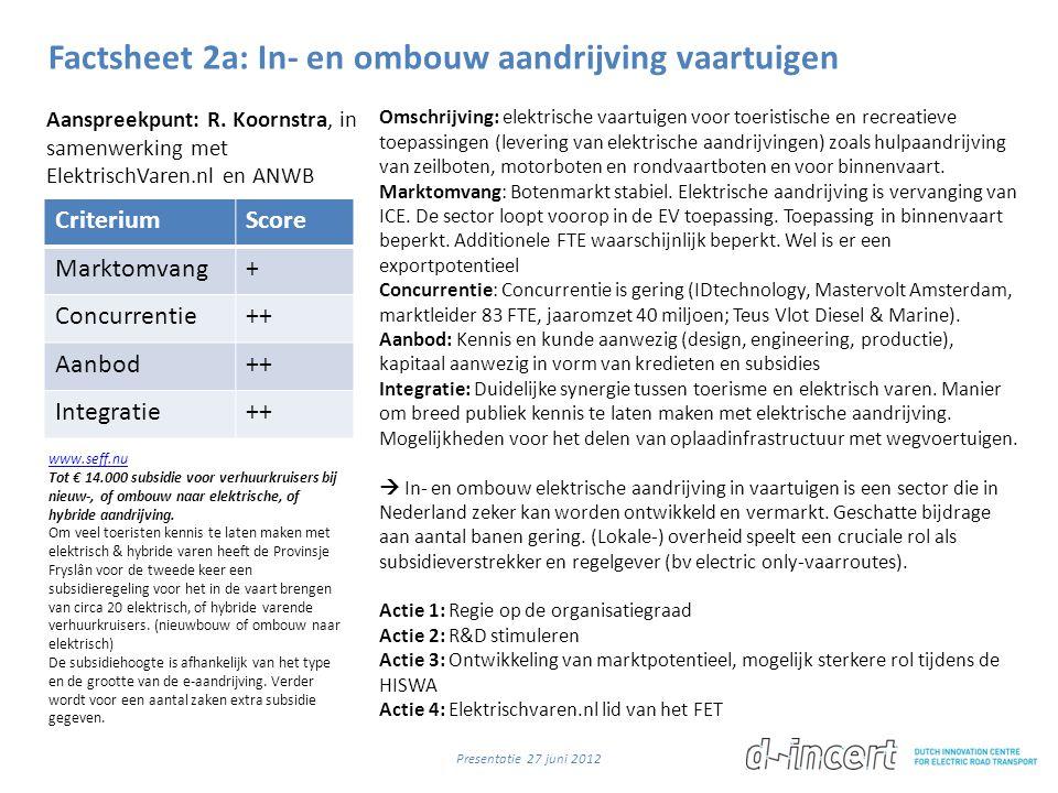 Factsheet 2a: In- en ombouw aandrijving vaartuigen
