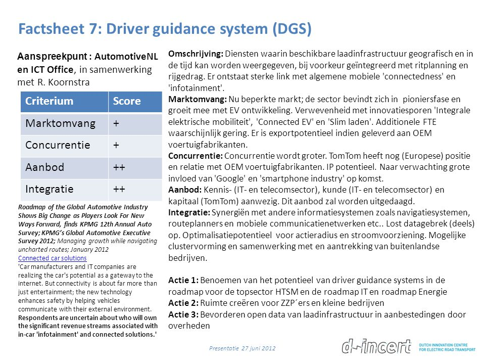 Factsheet 7: Driver guidance system (DGS)