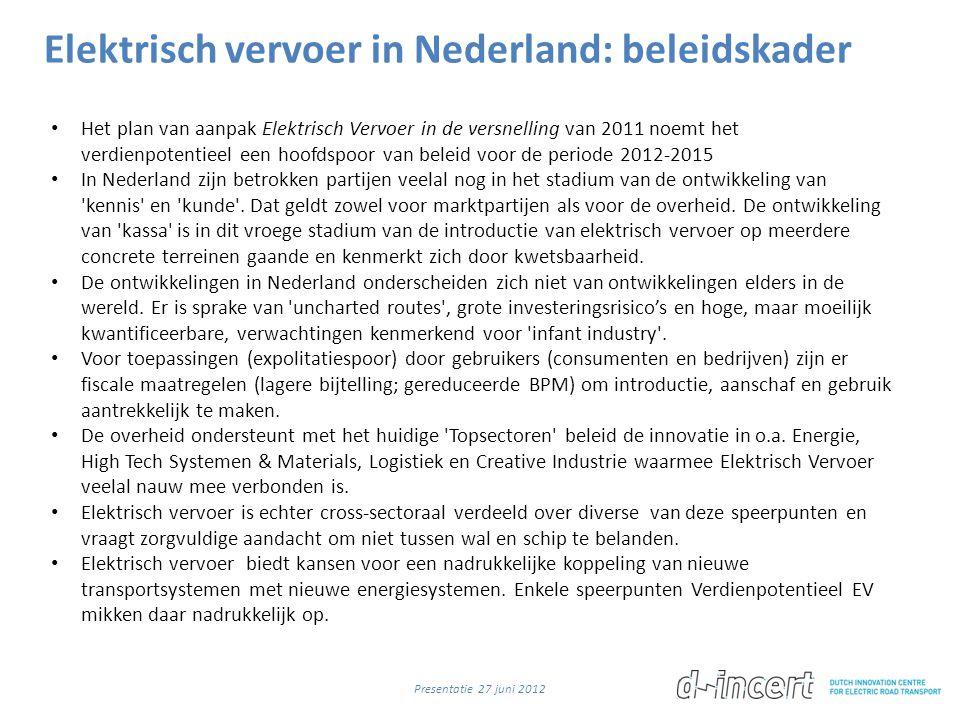 Elektrisch vervoer in Nederland: beleidskader