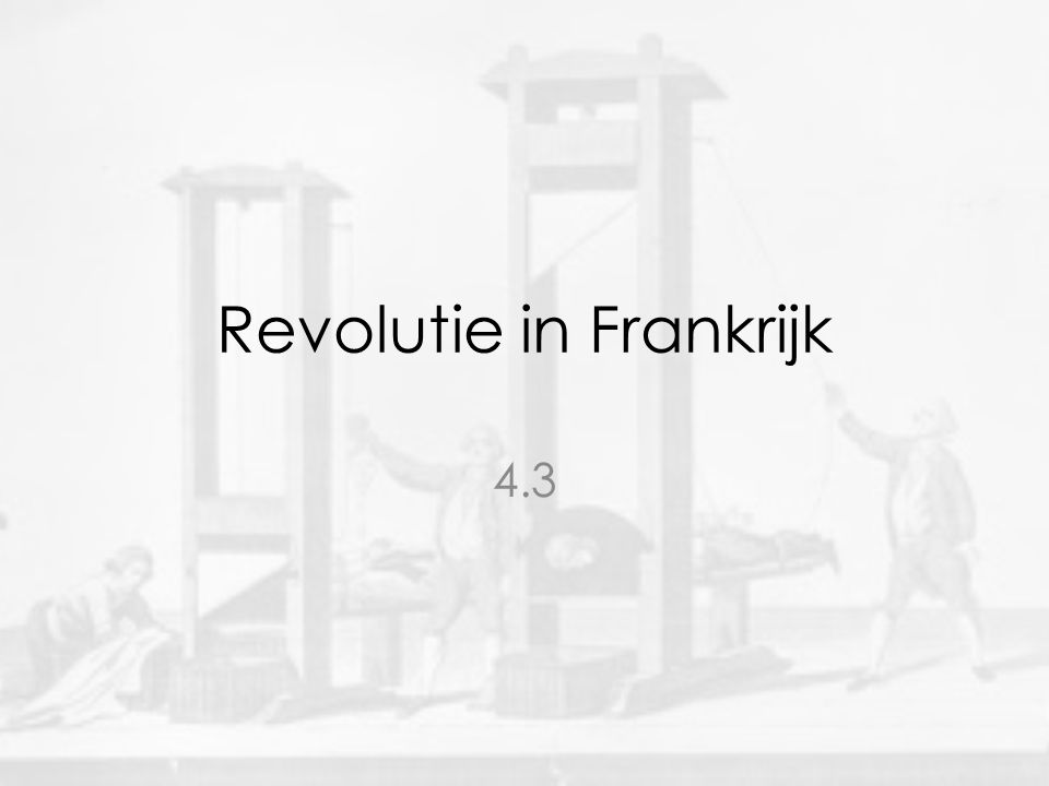 Revolutie in Frankrijk