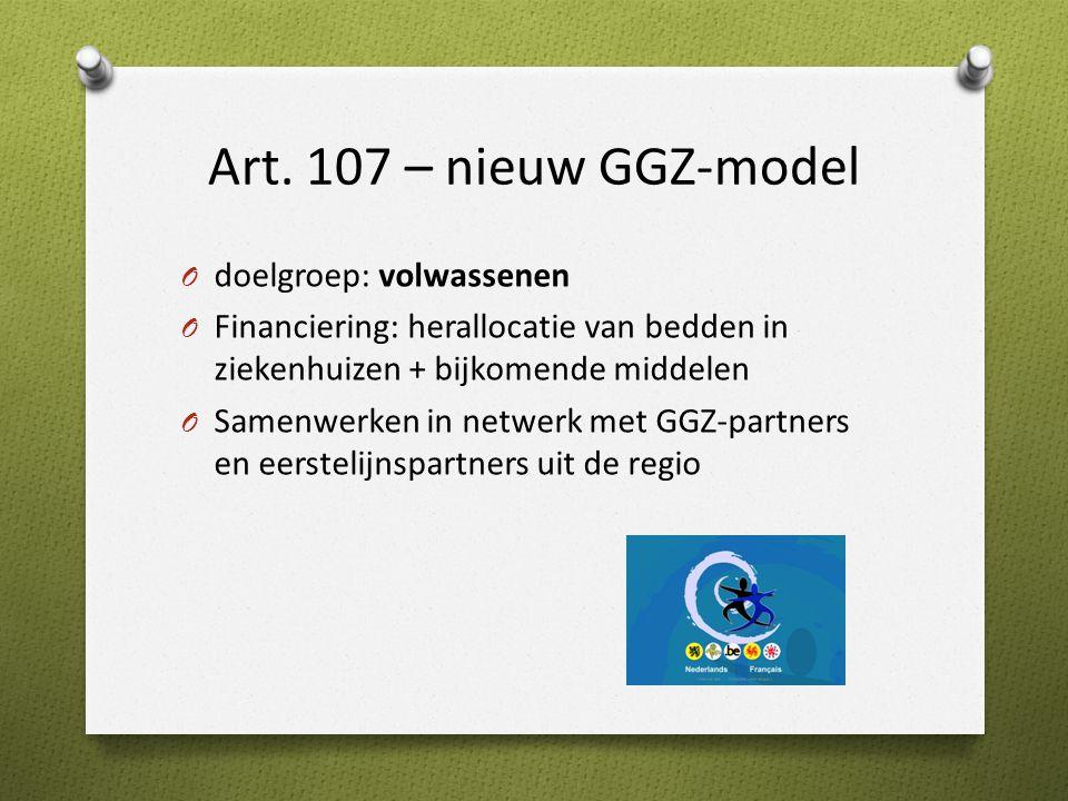 Art. 107 – nieuw GGZ-model doelgroep: volwassenen