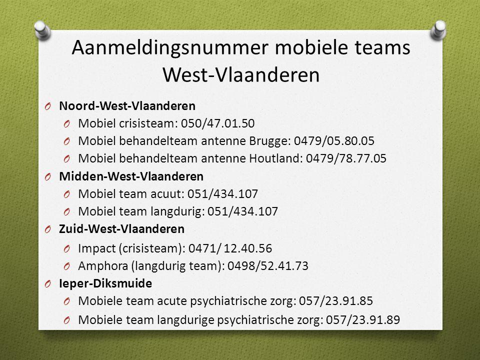 Aanmeldingsnummer mobiele teams West-Vlaanderen