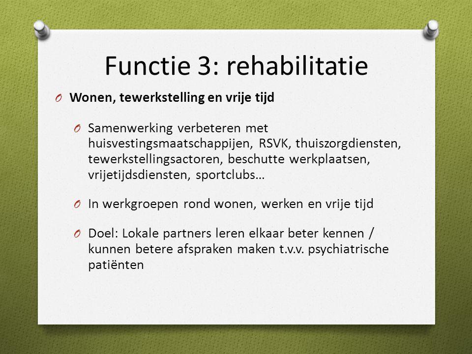 Functie 3: rehabilitatie