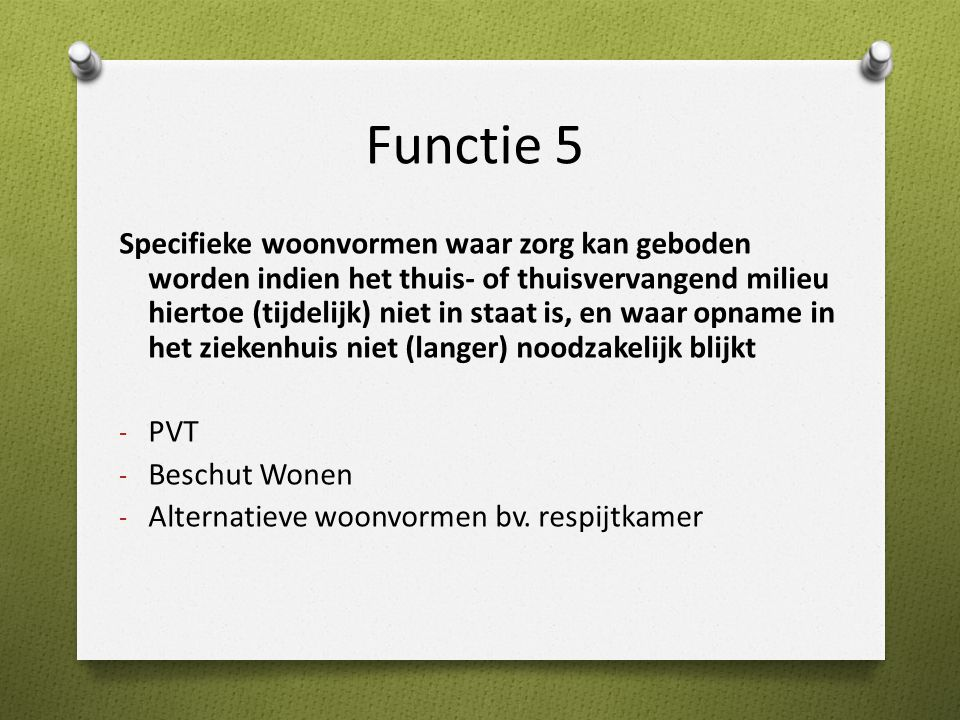 Functie 5