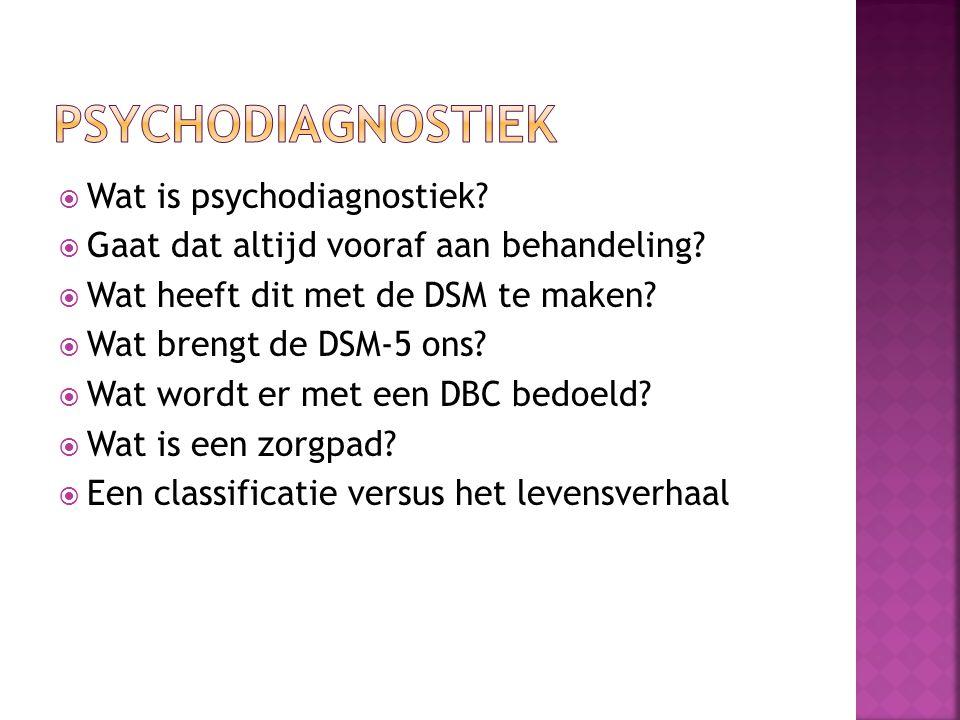 Psychodiagnostiek Wat is psychodiagnostiek