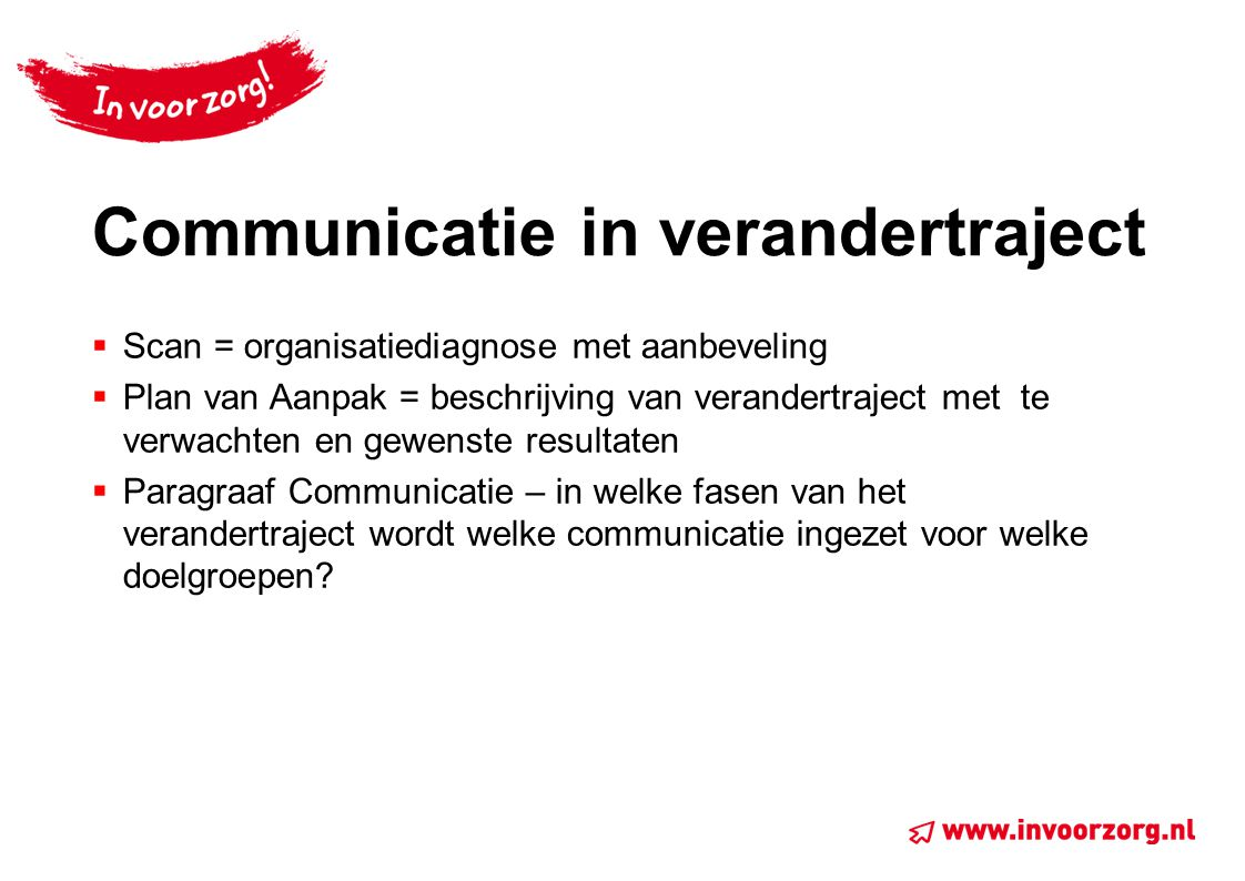 Communicatie in verandertraject
