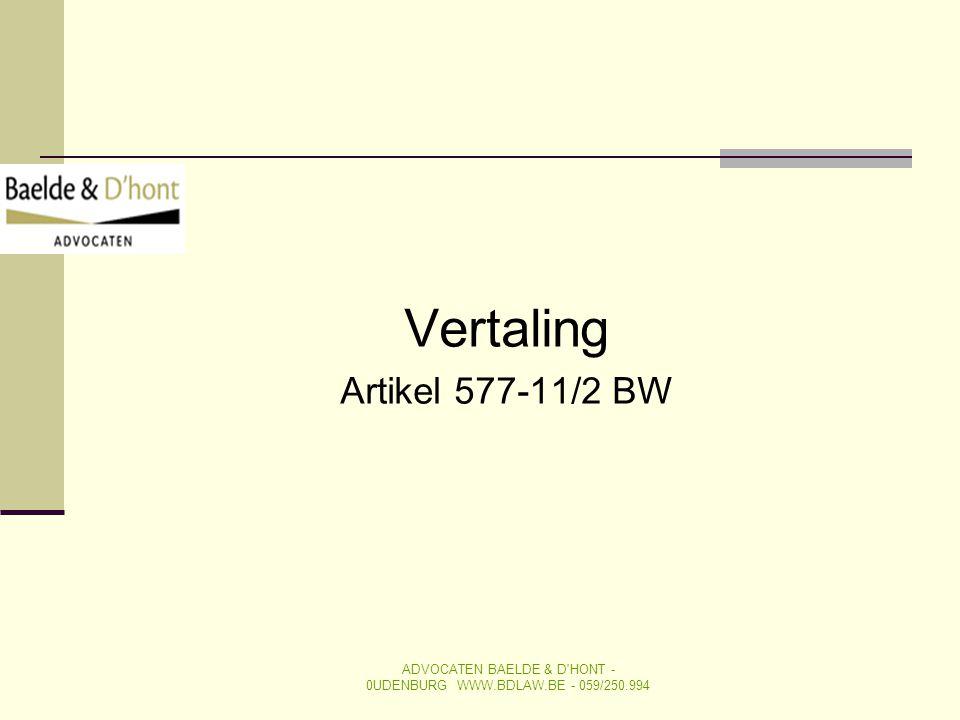 Vertaling Artikel 577-11/2 BW