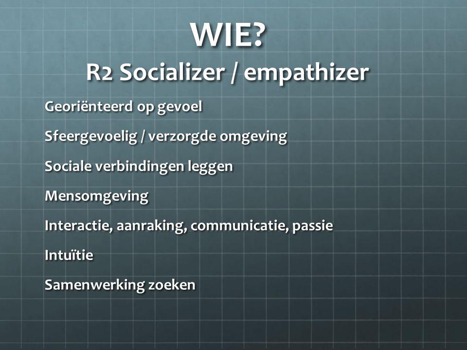 WIE R2 Socializer / empathizer
