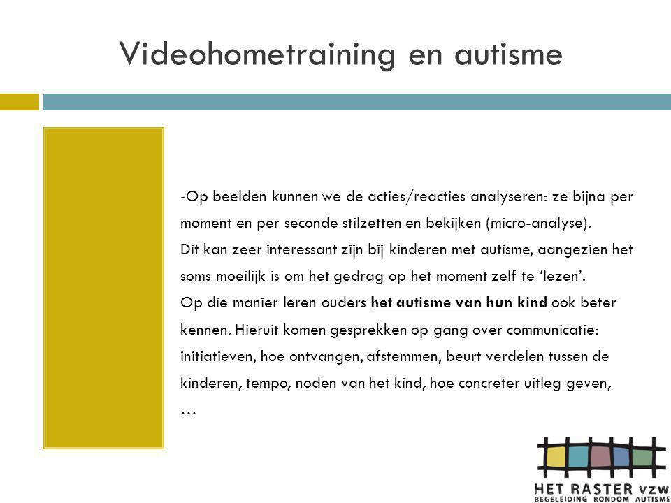 Videohometraining en autisme