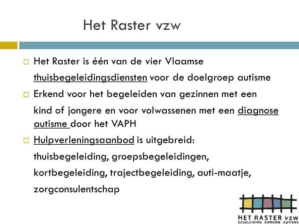 Het Raster vzw Het Raster is één van de vier Vlaamse