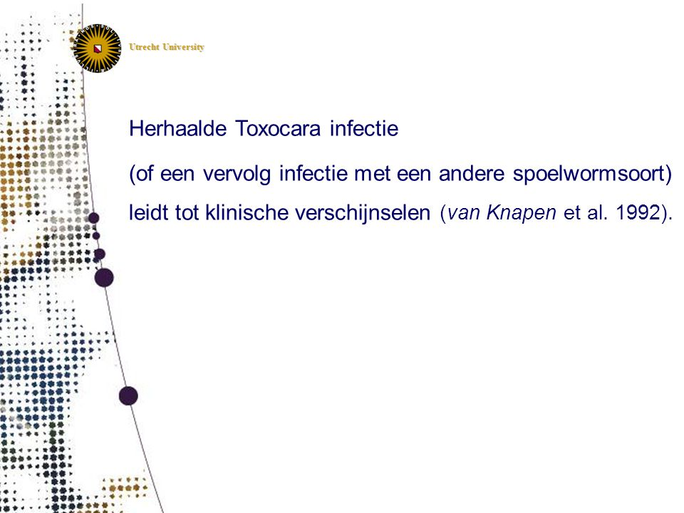 Herhaalde Toxocara infectie