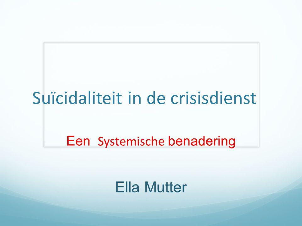 Suïcidaliteit in de crisisdienst