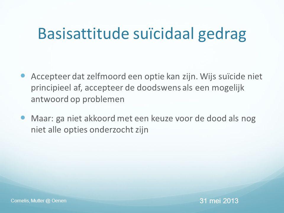 Basisattitude suïcidaal gedrag