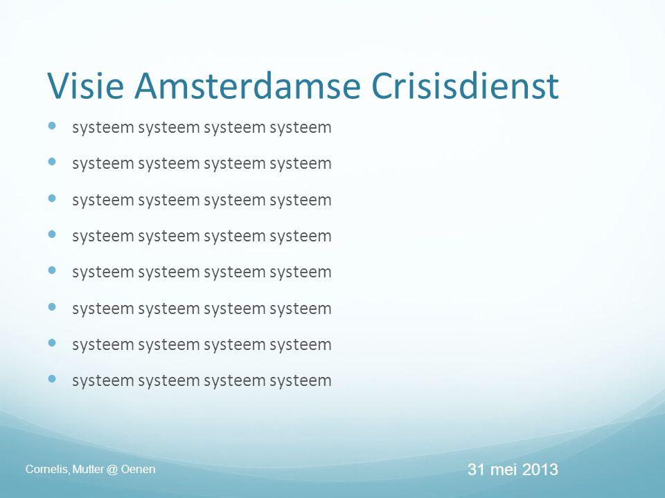 Visie Amsterdamse Crisisdienst