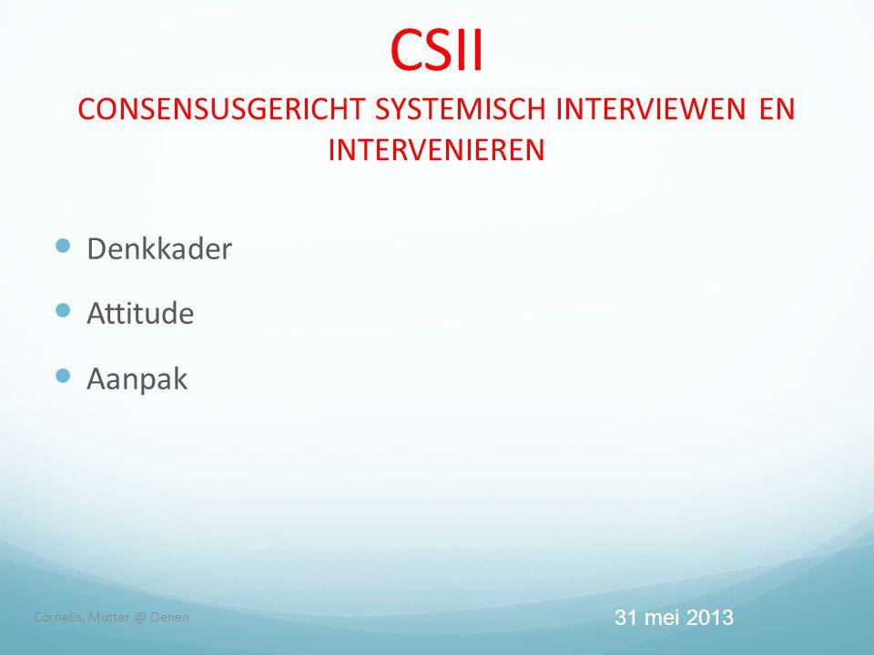 CSII CONSENSUSGERICHT SYSTEMISCH INTERVIEWEN EN INTERVENIEREN
