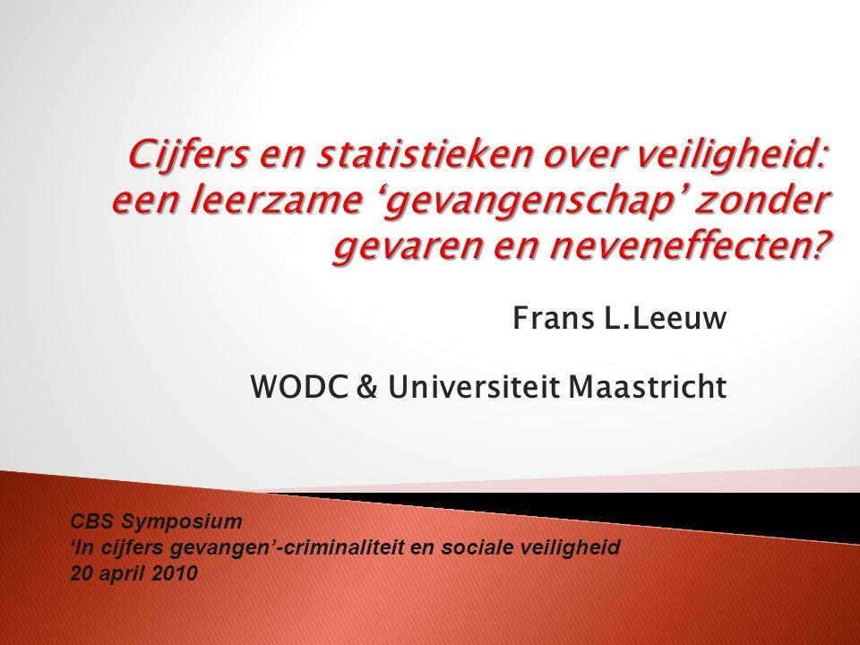 Frans L.Leeuw WODC & Universiteit Maastricht