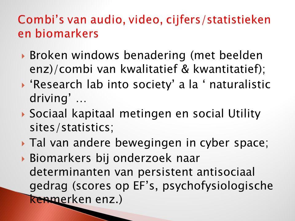 Combi's van audio, video, cijfers/statistieken en biomarkers
