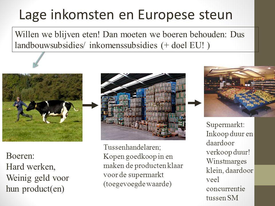 Lage inkomsten en Europese steun