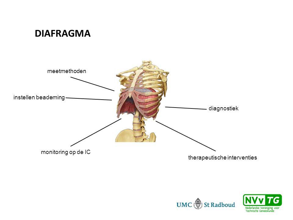 Diafragma meetmethoden instellen beademing diagnostiek