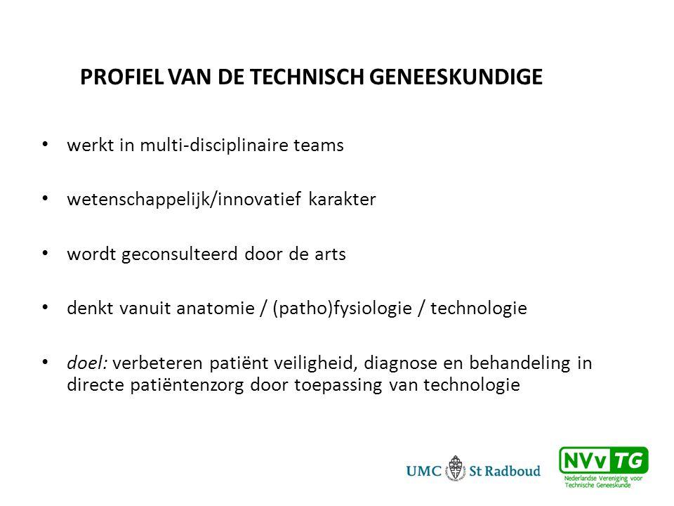 Profiel van de Technisch Geneeskundige