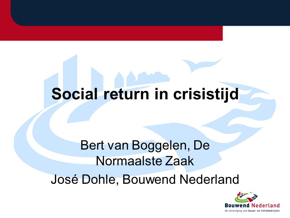 Social return in crisistijd