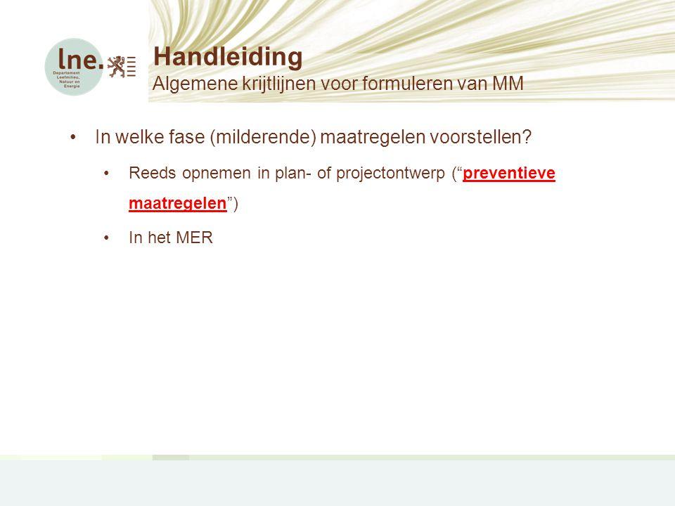 Handleiding Algemene krijtlijnen voor formuleren van MM