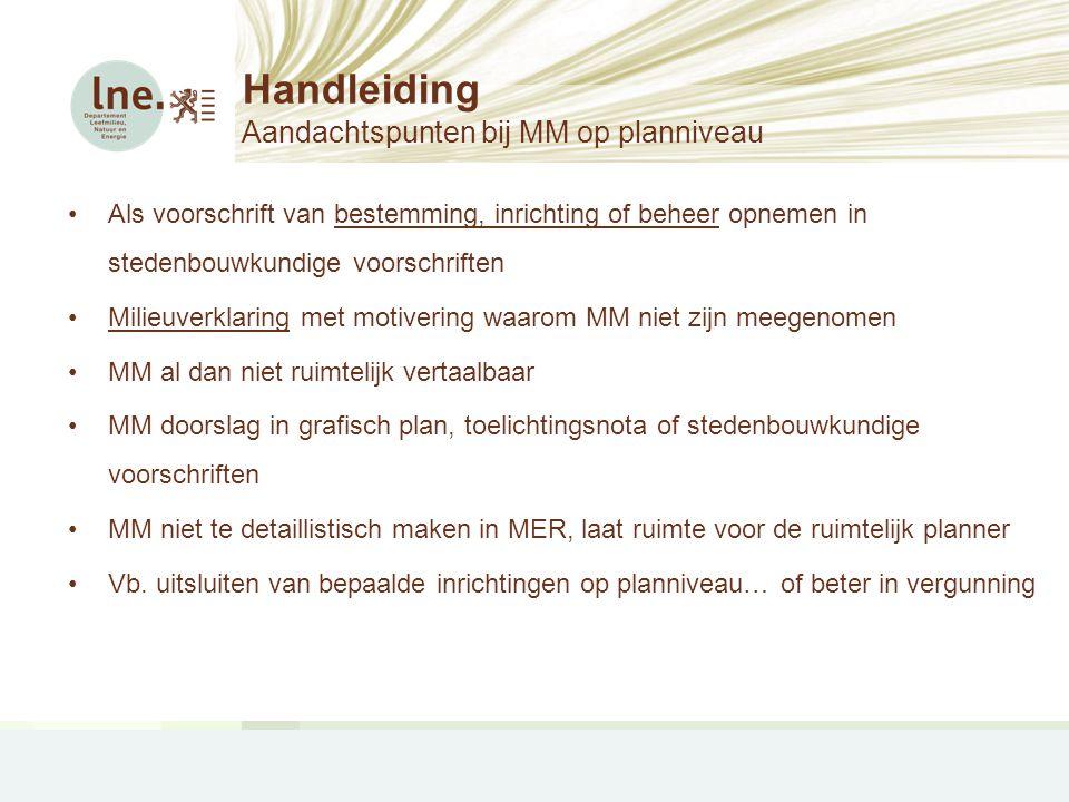 Handleiding Aandachtspunten bij MM op planniveau