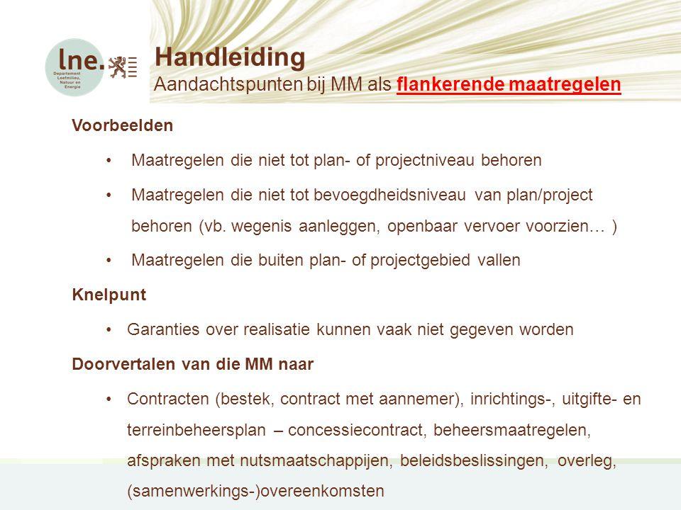 Handleiding Aandachtspunten bij MM als flankerende maatregelen