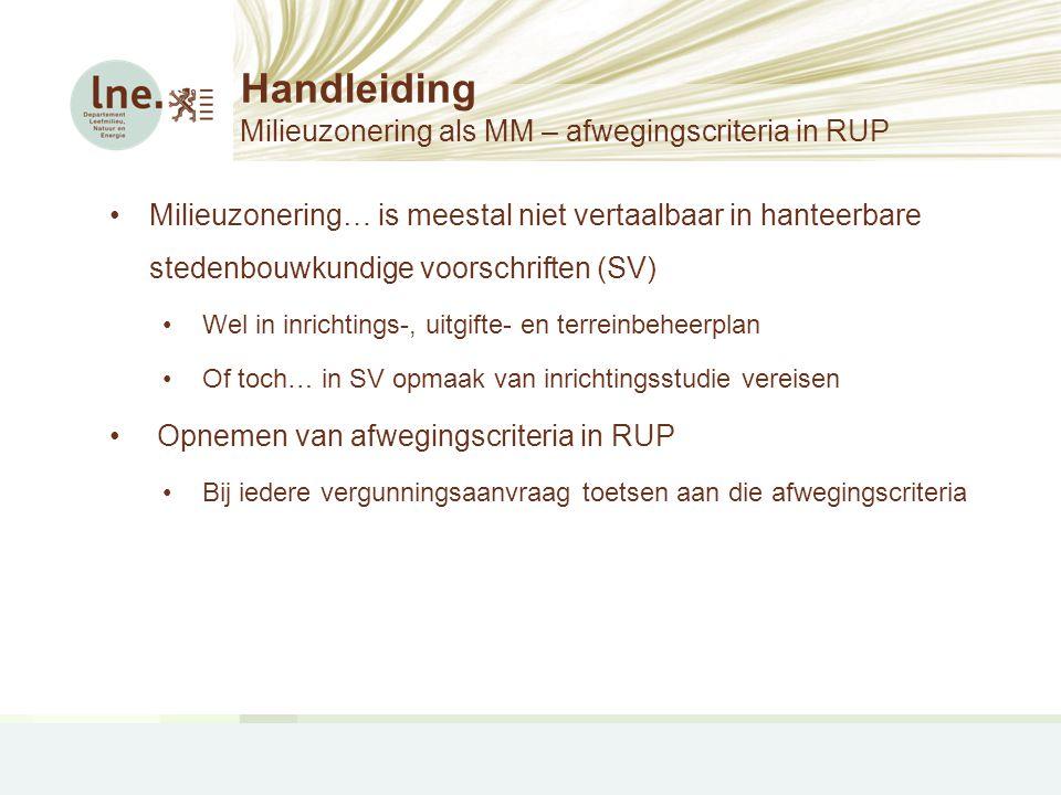 Handleiding Milieuzonering als MM – afwegingscriteria in RUP