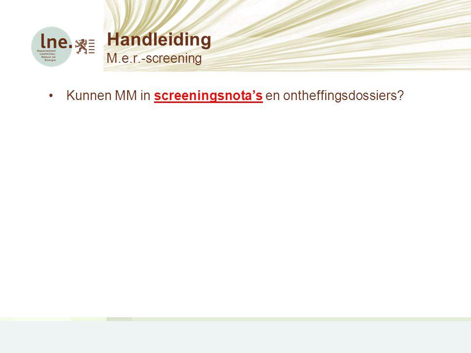 Handleiding M.e.r.-screening