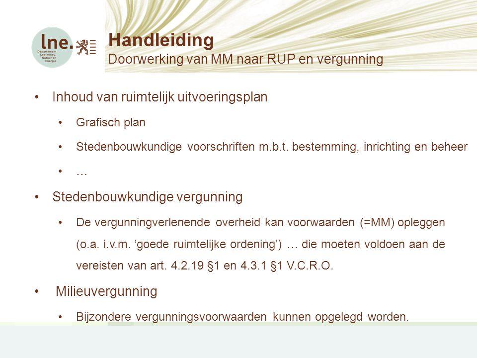 Handleiding Doorwerking van MM naar RUP en vergunning