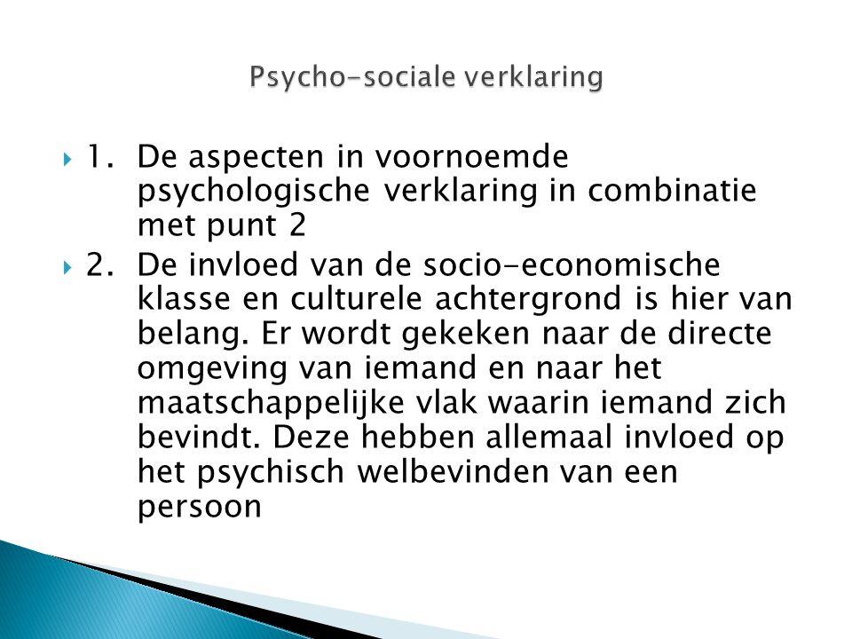 Psycho-sociale verklaring