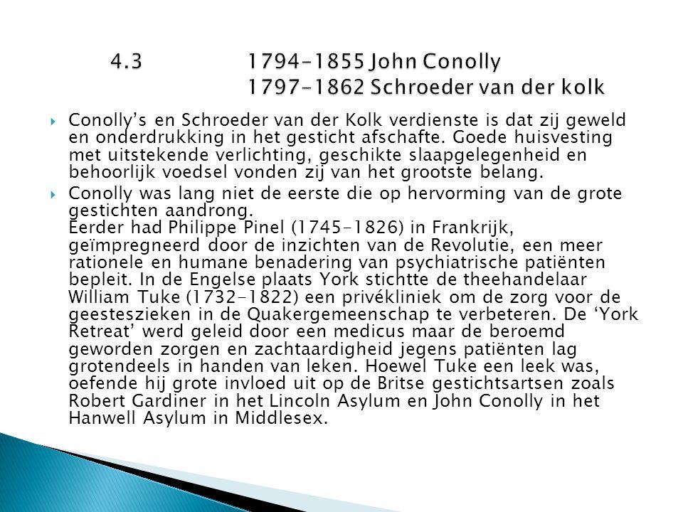 4.3 1794-1855 John Conolly 1797-1862 Schroeder van der kolk